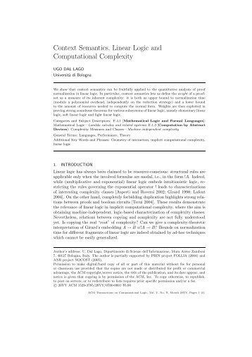 Context Semantics, Linear Logic and Computational Complexity