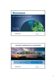 Biomassa – Grontmij – dhr. R. van Hedel - HoSt