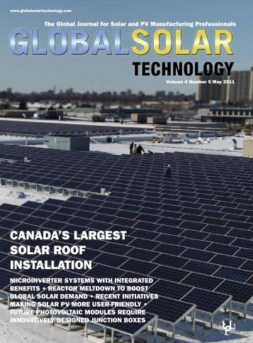 CaNada'S larGeST Solar roof iNSTallaTioN - Global Solar Technology