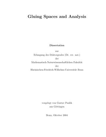 Download as a PDF - Fachbibliothek Mathematik der Universität Bonn