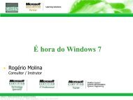 É hora do Windows 7 - Green Treinamento