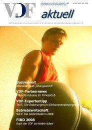 VDF aktuell Nr. 5-2008 - Hier entsteht eine neue Internetpräsenz
