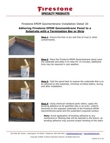 Instructions - Firestone Specialty Products