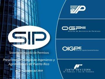 Presentación Colegio de Ingenieros y Agrimensores de Puerto Rico