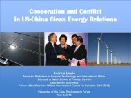 Cooperation and Conflict in US-China Clean Energy Relations