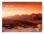 CMS-1500 Claim Form Instructions