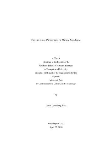 Georgetown university masters thesis