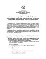 Relatório da realização da 29a Assembleia Geral do Conselho ...