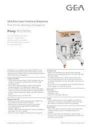 GEA Niro Soavi Pony NS2006L Tech Sheets ENG Rev01 2013