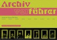 archivverführer archive im ennepe-ruhr-kreis - Kulturforum Witten