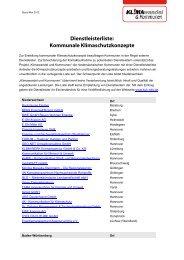 Dienstleisterliste - KuK Klimawandel und Kommunen