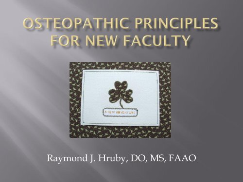 Osteopathic Medicine: The Story