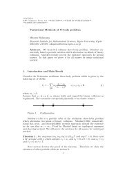 Variational Methods of N-body problem - Research Institute for ...
