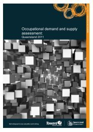 Occupational demand and supply assessment: QLD 2011 - Training ...