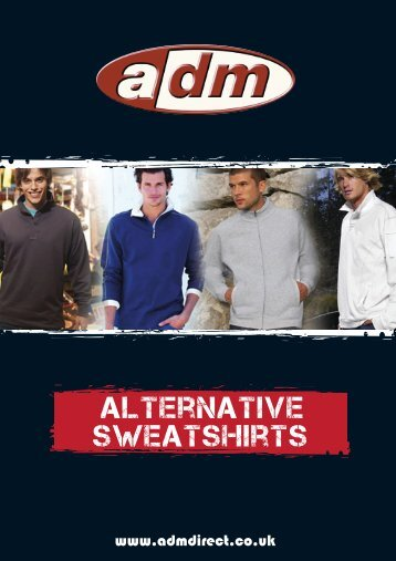alternative sweatshirts - ADM Workwear