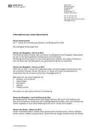 Interne Mitteilung - Stadt Zürich