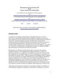 1 Determinantes del éxito del desarrollo En las Naciones nativas de ...