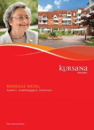pdf Residenzbroschüre Residenz Wedel - Kursana