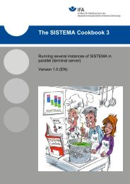 SISTEMA Cookbook 3: Running several instances of ... - DGUV