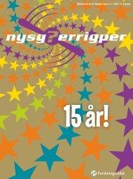 Medlemsblad for Nysgjerrigper, 2 – 2008. 15. årgang