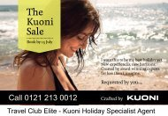 The Kuoni Sale - Travel Club Elite