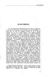 AVANT-PROPOS - Politique Africaine