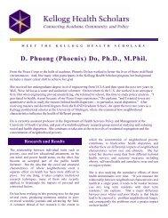 Phoenix Do - Kellogg Health Scholars Program