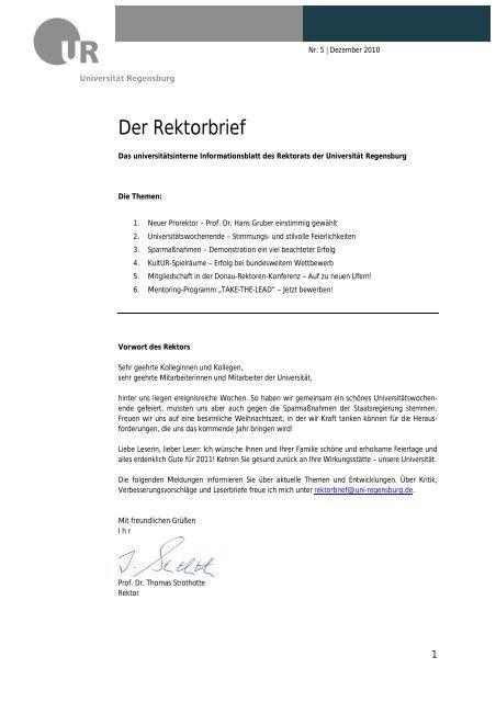 Der Rektorbrief