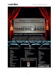 Cortometrajes a concurso - Ayuntamiento de Torremolinos