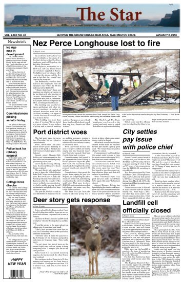 Nez Perce Longhouse lost to fire - The Star of Grand Coulee