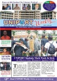 Vol. 6 No. 7 September 26 - University of Port Harcourt