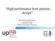 """""""High performance horn antenna design"""""""