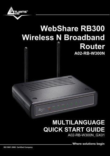 WebShare RB300 Wireless N Broadband Router - Atlantis Land