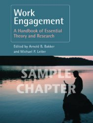 Work Engagement: A Handbook of Essential Theory ... - Routledge