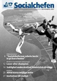November 2007 - Föreningen Sveriges Socialchefer