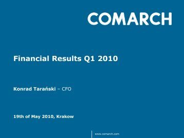 Results Q1 2010 - Comarch