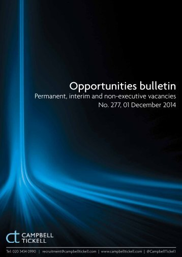CT Opportunities Bulletin 277 011214