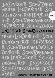 Schützengesellschaft Lenzburg • 1464 1/11 - SG Lenzburg
