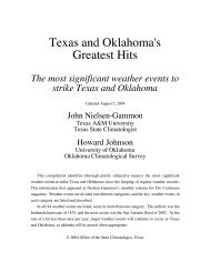 Texas and Oklahoma's Greatest Hits - Office of the State ...