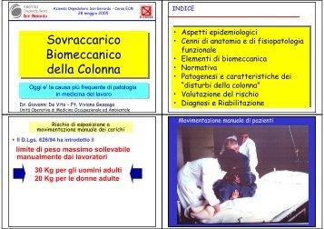 Sovraccarico Biomeccanico della Colonna Sovraccarico ...