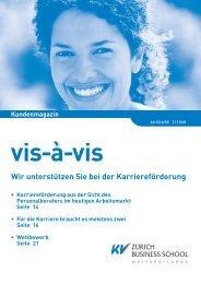 Kundenmagazin vis-à-vis: Wir unterstützen Sie bei - KV Zürich ...