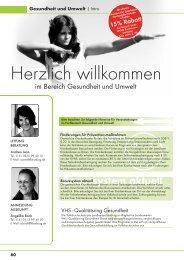 Gesundheit und Umwelt - Kreisvolkshochschule Landkreis Harburg