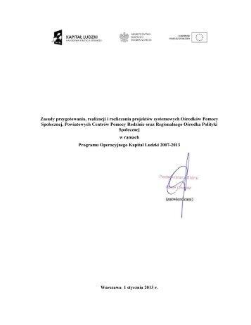 zasady po erracie - Europejski Fundusz Społeczny