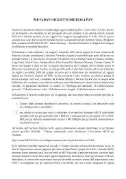 Metadati Oggetti Digitali SAN - Istituto Centrale per gli Archivi