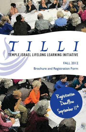 TILLI Study Groups - Temple Israel of Boston
