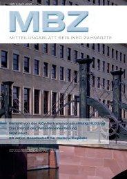 MBZ Ausgabe 04/2009 - Zahnärztekammer Berlin