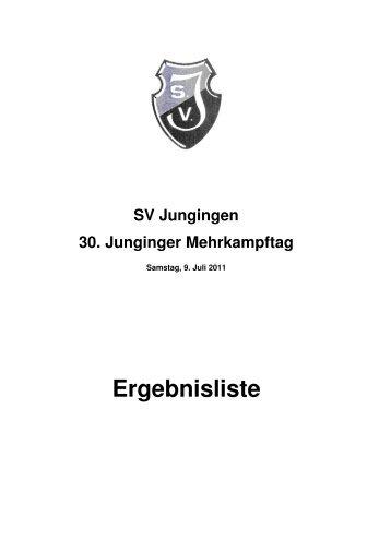30. Junginger-Mehrkampftag 2011 - Leichtathletikkreis Ulm/Alb-Donau