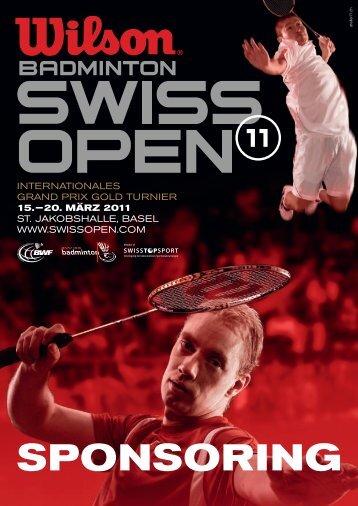SPONSORING - Badminton Swiss Open