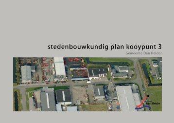 stedenbouwkundig plan kooypunt 3 - Gemeenteraad