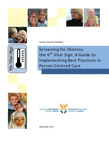 Screening for Distress, the 6th Vital Sign: A Guide to ... - cancerview.ca